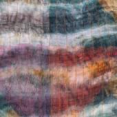 Background from stitched dark silk batik — Stock Photo