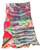 Patchwork and batik scarf isolated on white — Stock Photo