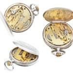 Set of open retro pocket clockworks isolated — Stock Photo #58613687
