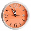 Five to twelve o'clock on orange dial isolated — Zdjęcie stockowe #58612945