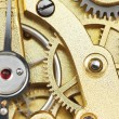Brass mechanical movement of vintage clock — Stock Photo #58613263