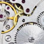 ������, ������: Background from steel clockwork of vintage watch
