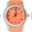 Set of orange wristwatches with midnight time — Stock Photo #58613575