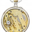 Top view of brass movement of vintage pocket watch — Stock Photo #58613591