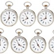 Set of retro pocket watches with different time — Stock Photo #58613601