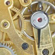 Brass mechanical clockwork of vintage clock — Stock Photo #58613627