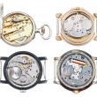 Постер, плакат: Set of watches with mechanical and quartz movement