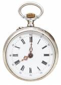 Eight o'clock on the dial of retro pocket watch — Foto Stock