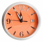 Five to twelve o'clock on orange dial isolated — Foto Stock