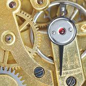 Brass mechanical clockwork of vintage clock — Stockfoto