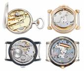 Set of watches with mechanical and quartz movement — Stock Photo