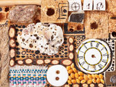 Background from natural and sewing objects — Stock Photo