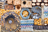Abstract set of natural and mechanical objects — Stock Photo