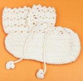 Textile baby's booties — Stock Photo