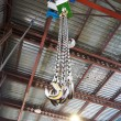 Hooks of weigher bridge crane in warehouse — Stock Photo #60168809