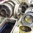 Gears of disassembled motor in mechanical turnery — Stock Photo #60168849