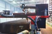 Plasma torches of cutting machine close up — Стоковое фото