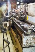 Old turning lathe machine — Stock Photo