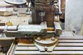 Vice and drill of old boring machine close up — Stock Photo