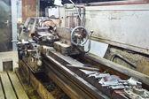 Center metal lathe machine — Stock Photo