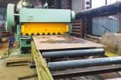 Shear machine for metal sheets — Stock Photo
