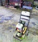 Small gasoline single direction plate compactor — Stock Photo