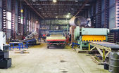 Interior of storehouse and mechanical workshop — Stock Photo
