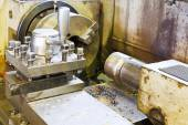 Main spindle of metal lathe machine — Stock Photo
