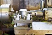 Spindles of metalworking lathe machine — Stock Photo