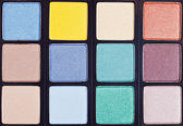 Background from makeup palette close up — Stock fotografie