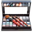 Makeup kit and cosmetic brushes isolated — Stock Photo #63184149