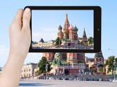 Photo of Red Square with Vasilevsky descent — Stock Photo