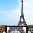 Taking photo of Champ de Mars and Eiffel Tower — Stock Photo #66840445