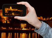 Hungarian Parliament Building in night — Stock Photo