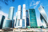 Towers of Moscow City office district — Stock Photo