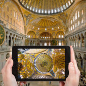 Tourist photographs of Hagia Sophia, Istanbul — Stock Photo