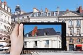 Tourist photographs of urban house in Nantes city — Stock Photo