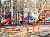 Children playground in urban yard — Foto de Stock