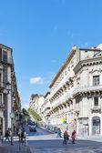 Cityscape of Catania city, Sicily — ストック写真