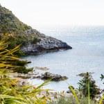 Isola bella beach near Taormina town, Sicily — Stock Photo #70980603