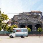 View of Roman Odeon in Catania — Stock Photo #70981563