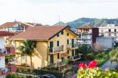 Urban houses in small town Gaggi in Sicily, — Stock Photo