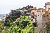 Houses in mountain village Savoca in Sicily — Stockfoto