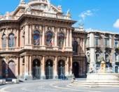 Teatro Massimo Bellini on Piazza in Catania — Stock Photo