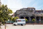 View of Roman Odeon in Catania — Stock Photo