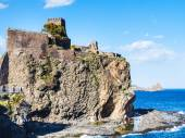 Norman castle and Islands of the Cyclops, Sicily — Stock Photo
