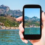 Picture of Taormina - popular tourist resort — Stock Photo #71594825