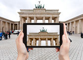 Photo of brandenburg gate in Berlin — Stock Photo