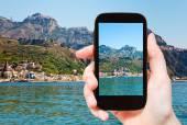 Picture of Taormina - popular tourist resort — Stock Photo