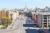 Skyline with Lubyanka Square in Moscow — Stock Photo